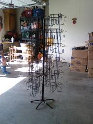 MUST SELL -- DVD Floor Spinner Rack