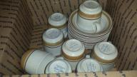 8 Hearthside Water Colors Cups and Saucers