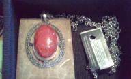 Old Timey Red Oval Stone on Chain