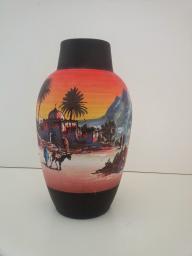 Moroccan Hand-Painted Vase, Agadir
