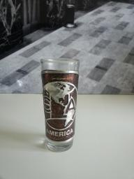 Tall shot glass, Club America, Mexico