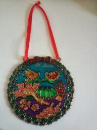 St Lucia Colorful Hand-Painted Souvenir, Sea Turtles & Scripture