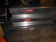NEW -Three Aluminum Truck Bed Tool Boxes off a new Toyoda Tundra