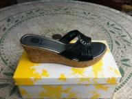 Yellow Box Wedge Sandals (Size 7 1/2)