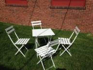 Metal garden table and chairs