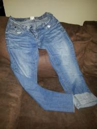 Hydraulic Capri Jeans