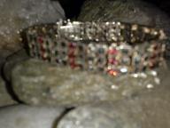 vintage sterling silver 9.25 bracelet Trio Oval Tanzanite Bracele
