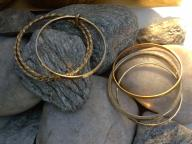 vintage gold tone bangles