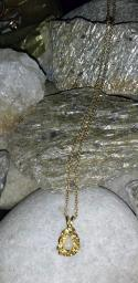 Adorable gold tone chain with beautiful charm/pendant