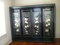 ANTIQUE ASIAN WARDROBE BLACK LACQUER AND MOTHER PEARL