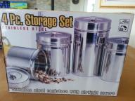 4 pcs stainless canister with air tight covers
