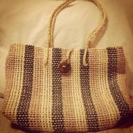 Woven TriColor Hand Bag
