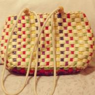 Woven Rainbow Shoulder Bag