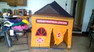 kids pretend construction tent