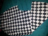 Black and white checkered skirt with split on side...size XL