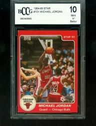 1984-85 Michael Jordan Star Rookie Card BCCG Graded 10