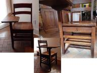 Vintage wood school chair #5