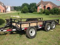 14000 lb. GVWR Heavy duty tube frame Kearney trailer.