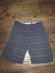 Black/Gray Plaid Boys  cargo Shorts