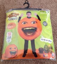 New - Boy's Annoying Orange Costume Size 8-12  (Item #1)