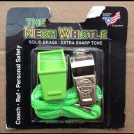 New - Whistle & Lanyard - Green (Item #14)