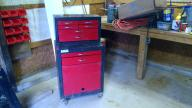 red double stack tool box