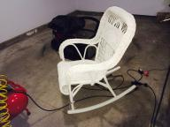 Wicker chair rocker
