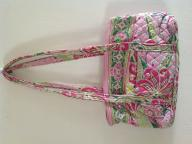 Pink and green Vera Bradley purse.