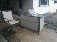 patio bar with stools
