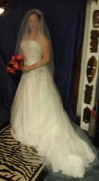 Oleg Casini Wedding dress/vail and blusher