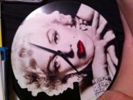 Marilynn Monroe clock