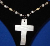 White stone cross (necklace)