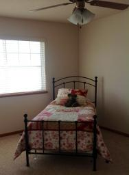 Single mattress with box springs,frame, headboard and footboard