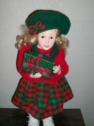 ** Holiday Creations 1995 Christmas doll **