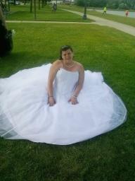 White princess style wedding dress for sale