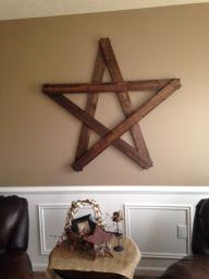 Hand made 4 Foot wooden star