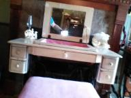 Vintage Singer Sewing Machine repurposed as vanity