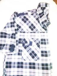 Black & White Plaid Button Down