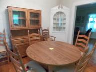8 piece oak dining room set