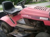 Older riding lawnmower