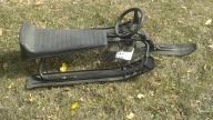 plastic sled w/brakes