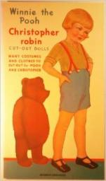 christopher robbins and winnie the pooh cut out paper dolls
