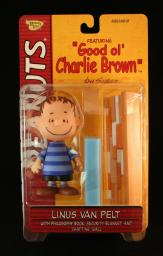 LINUS VAN PELT (BLUE SHIRT & CLASSIC SMILE) with Philosophy Book,