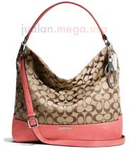 Coach Park Signature Hobo Purse W/Matching Wallet