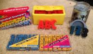 Stamping set-Foam ABC's & 1-9, U/C & L/C ABC's, Alpha. Markers