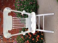 Victorian white chair