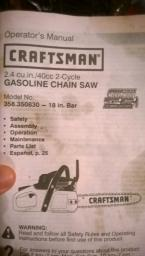 Sears Craftsman Chainsaw