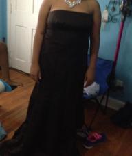 Brown David's Bridal gown