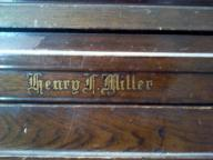 Henry F Miller upright piano