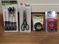 Tape measure/voltmeter/scissors/screwdriver set